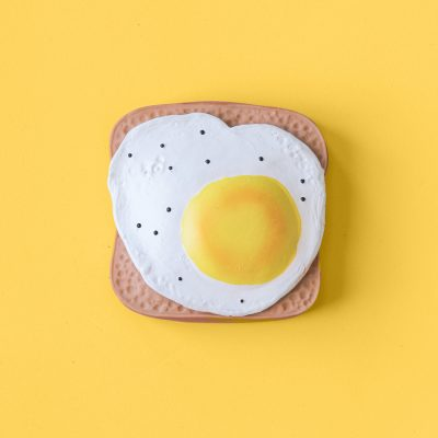fried eggs ruber toy by Lolaletost