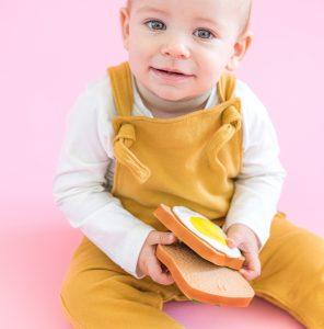 Lolaletost mordedores de caucho natural para bebés